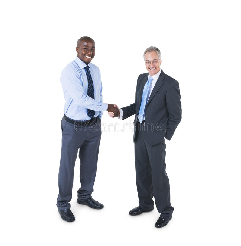 Two Business Men Shaking Hands stock photos