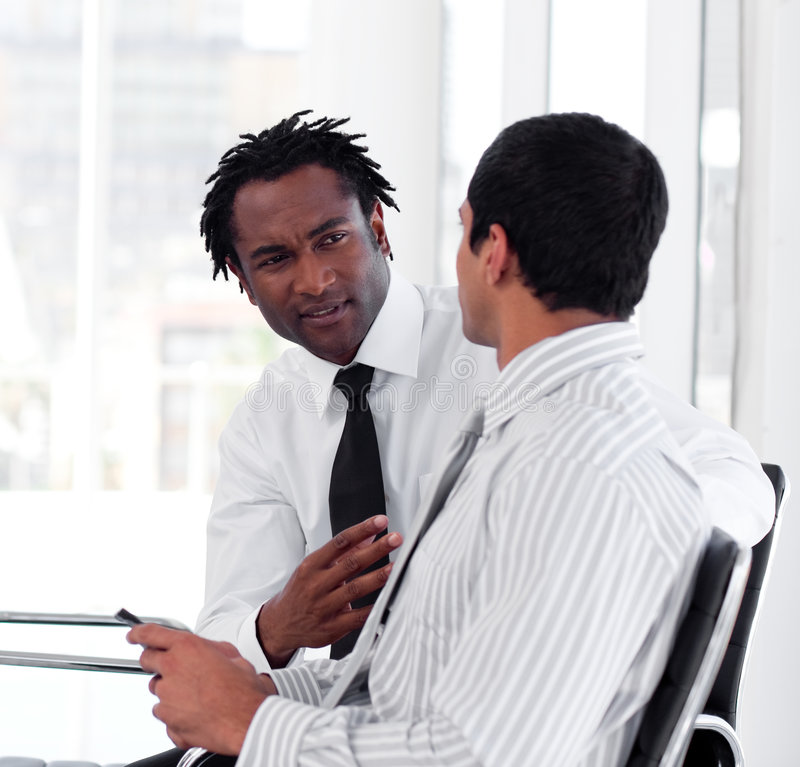 Download Two Business People Interacting Stock Image - Image of business, corporation: 9344371