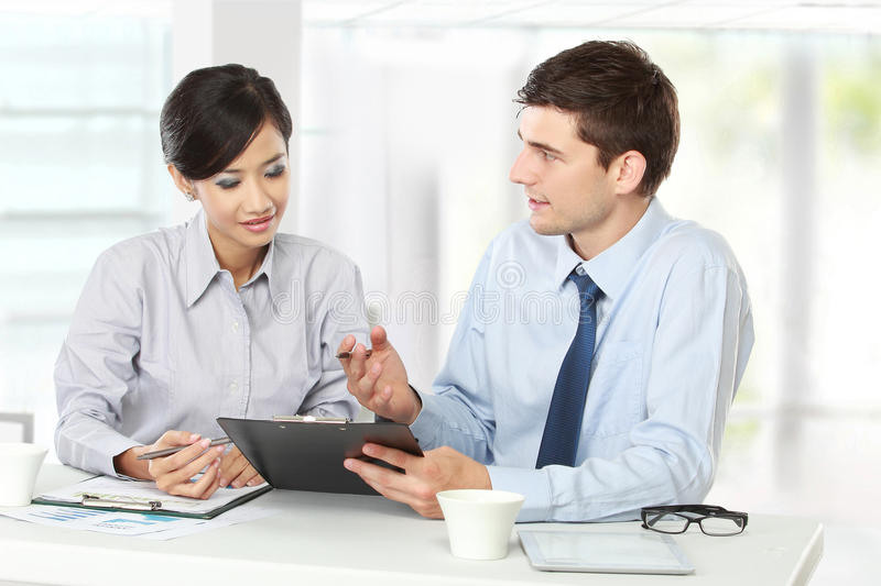 the office the meeting. Download Two Business People At The Meeting Stock Image - Of Growth, Explaining: Office