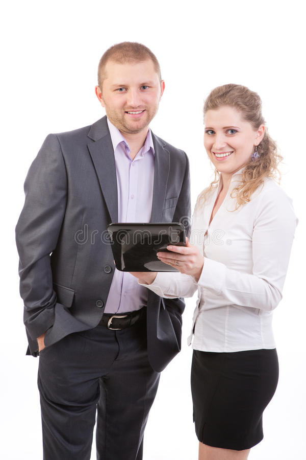 Two Business People  With Tablet Computer Stock Photos