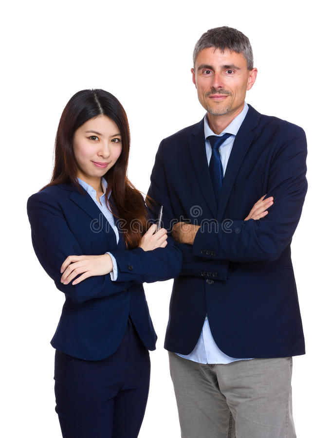 Free Two Business People With Different Ethnicities Royalty Free Stock Image - 40944196