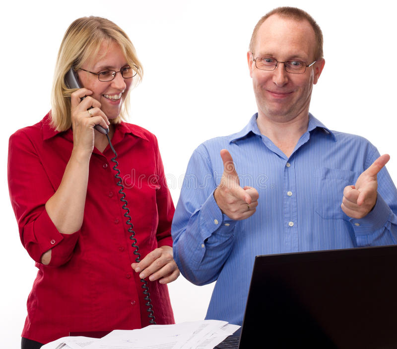 Download Two Business People Working Royalty Free Stock Images - Image: 26004389