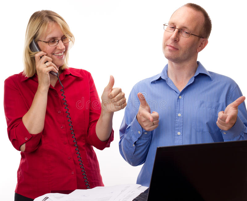 Download Two Business People Working Stock Photo - Image: 26030462
