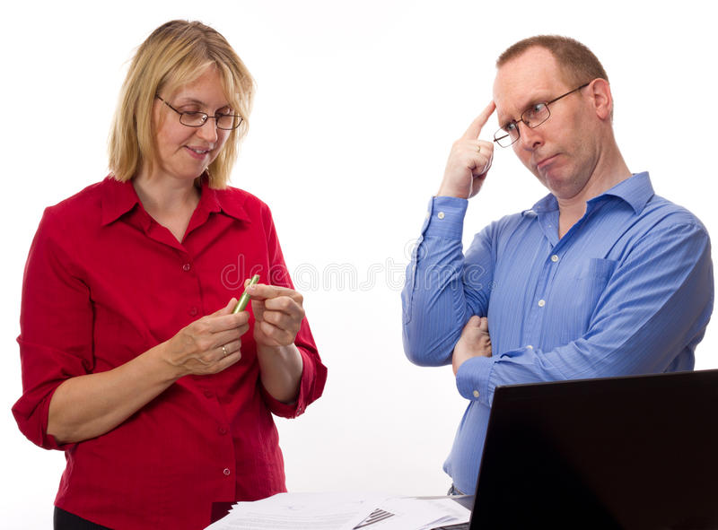 Download Two Business People Working Royalty Free Stock Photo - Image: 26030475