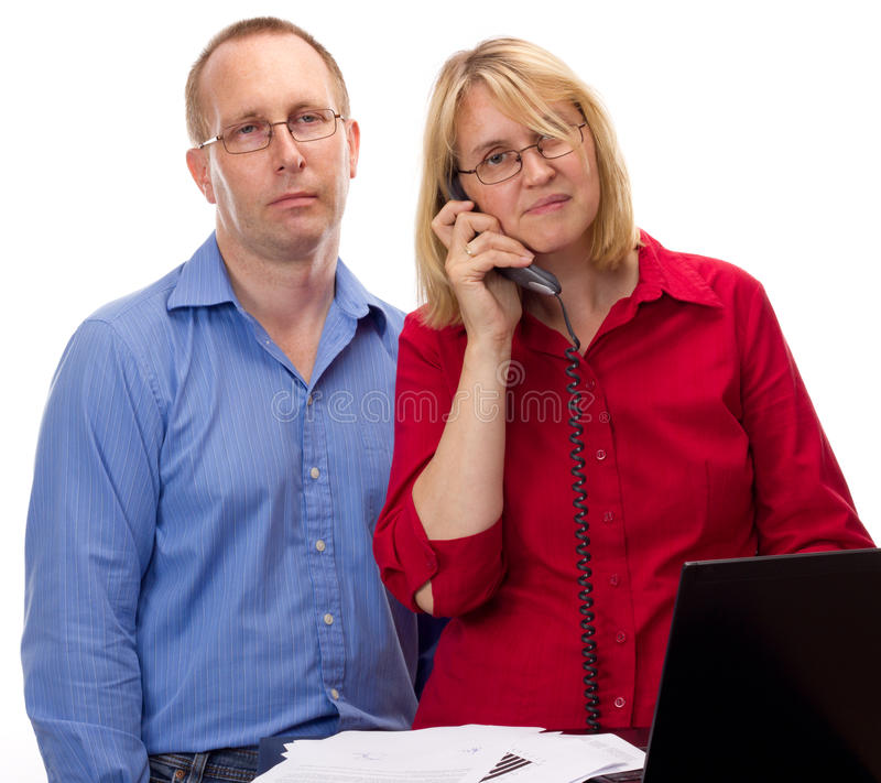 Download Two Business People Working Stock Photo - Image: 26030518