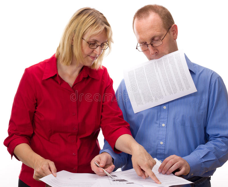 Download Two Business People Working Stock Photo - Image of network, conclusion: 26030634