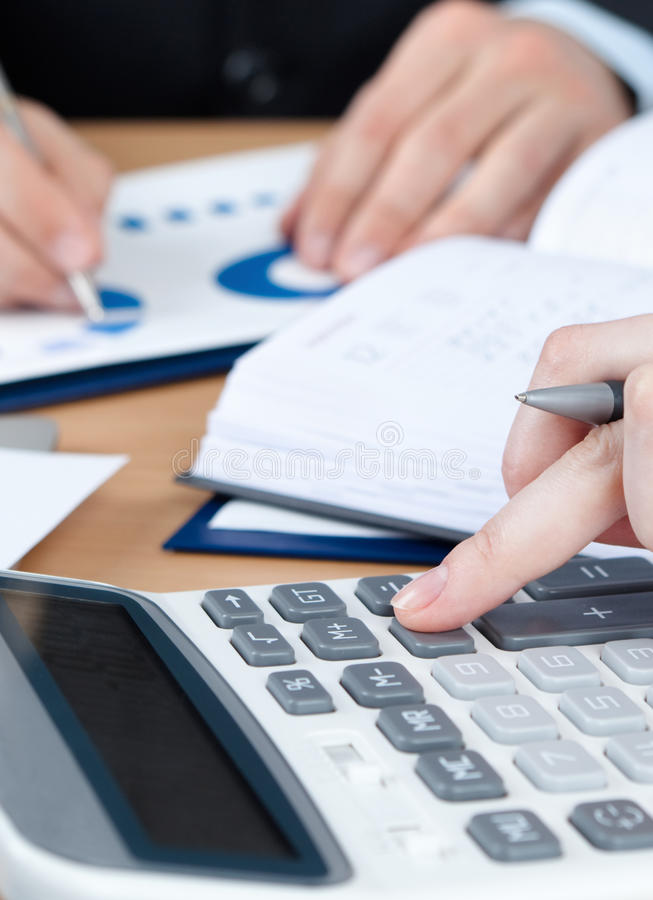 Download Two Business People Working Stock Image - Image: 26880675