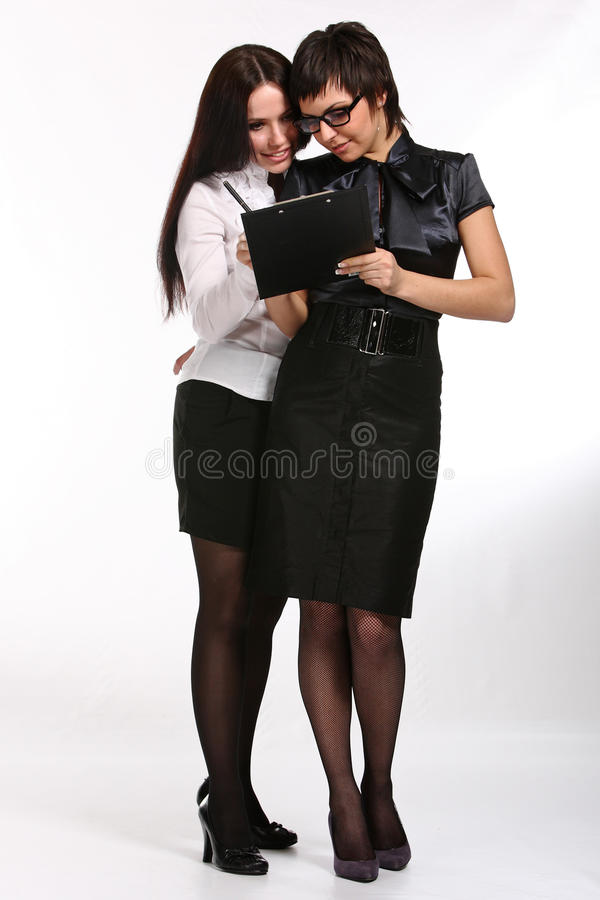 Download Two business woman stock image. Image of write, lovely - 12803643