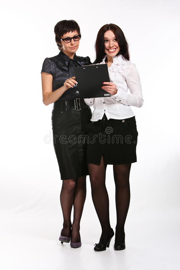 Download Two business woman stock photo. Image of smiling, secretary - 12851470