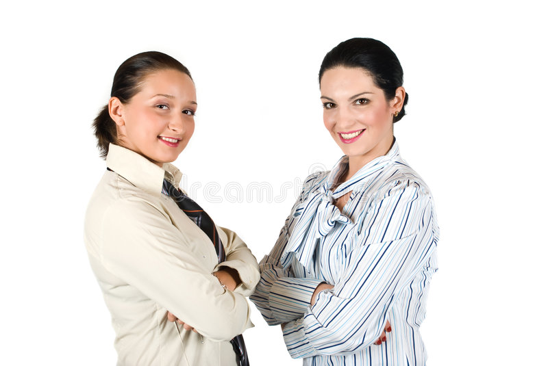 Two business woman team royalty free stock photography