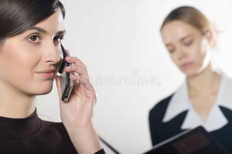 Download Two business women stock image. Image of horizontal, attractive - 1890001