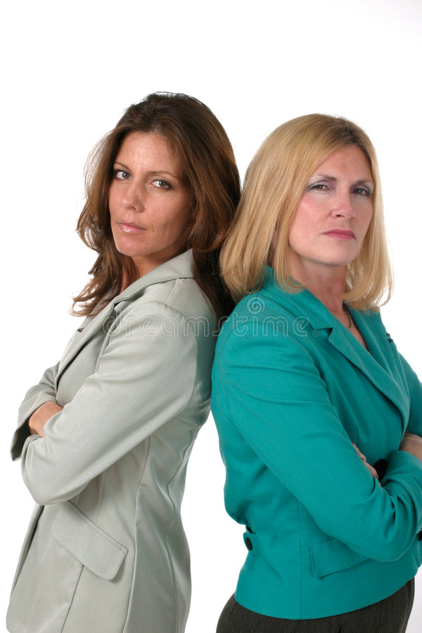 Download Two Business Women Back To Back 2 Stock Image - Image: 885843