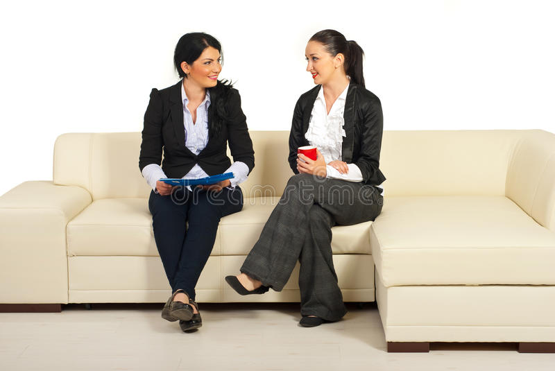 Download Two Business Women Having Conversation Stock Image - Image: 19477155