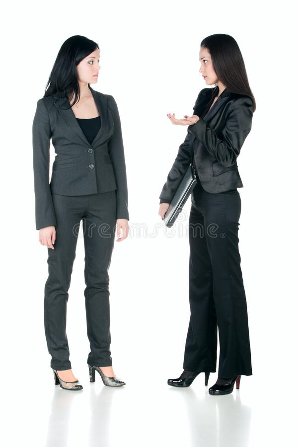 Download Two business women talking stock photo. Image of emotion - 12831842