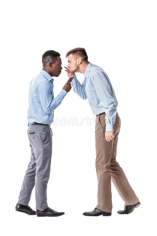 Two businessman arguing stock image