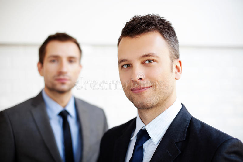 Two businessman stock photography