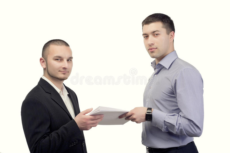 Two businessmen stock photography
