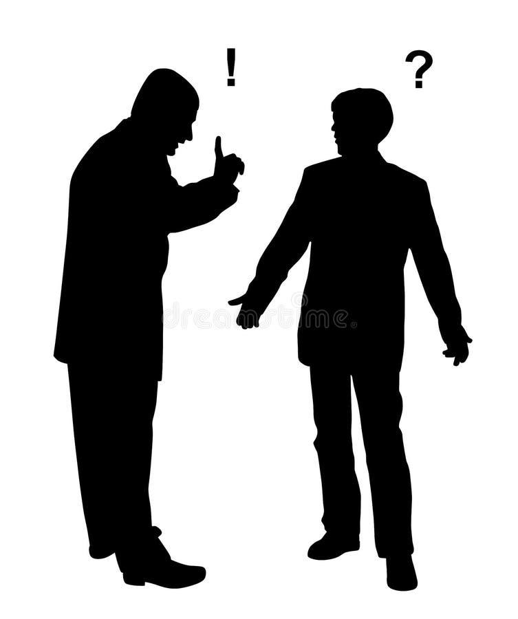 Two businessmen arguing vector illustration