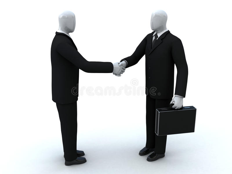Two Businessmen Shake Hands Royalty Free Stock Photography