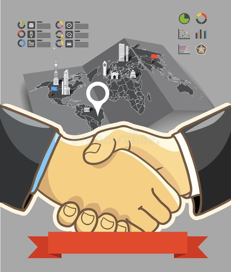 Download Two Businessmen Shaking Hands Stock Vector - Illustration: 34632234