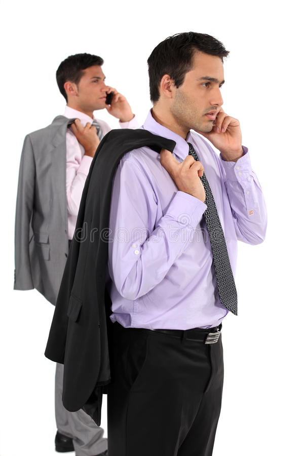 Download Two Businessmen Stood Taking Royalty Free Stock Photo - Image: 30595405