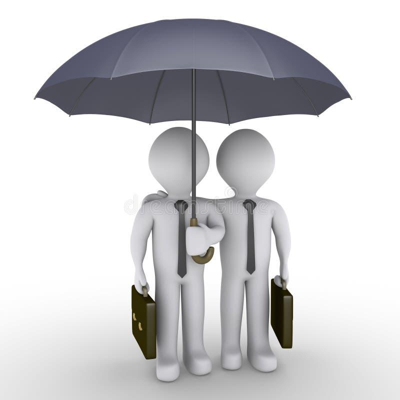 Download Two Businessmen Under One Umbrella Stock Illustration - Image: 27326025