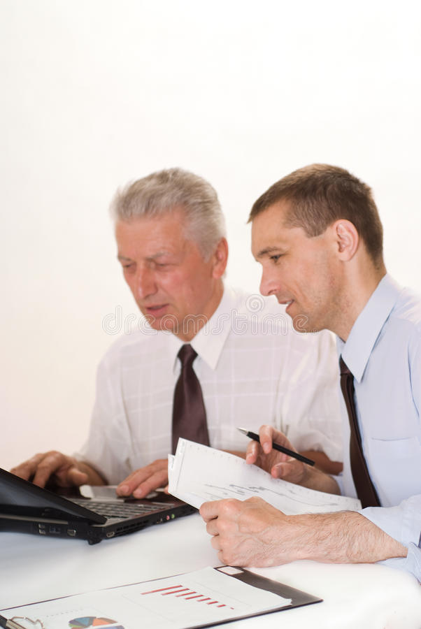 Download Two Businessmen Working Together Stock Image - Image: 14512631