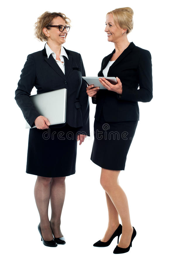 Download Two Businesswomen Discussing Business Stock Image - Image: 25997409