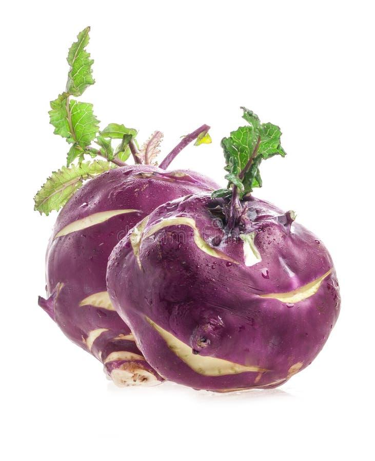 Two Cabbage kohlrabi stock image