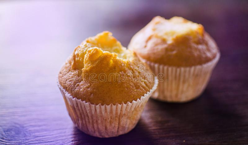 Two mouth-watering delicious cakes stock photos