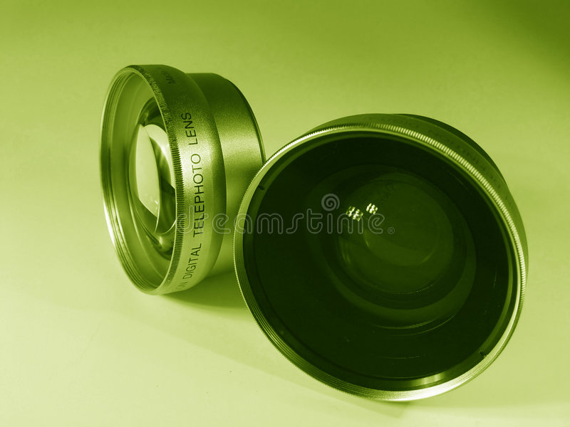 Download Two Camera Lens stock photo. Image of exposed, chrome, colors - 54450