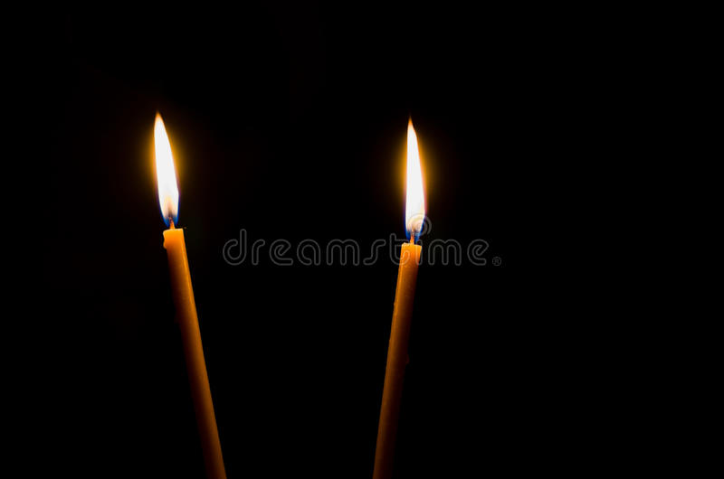 Download Two candle lights stock image. Image of black, backgrounds - 22882547