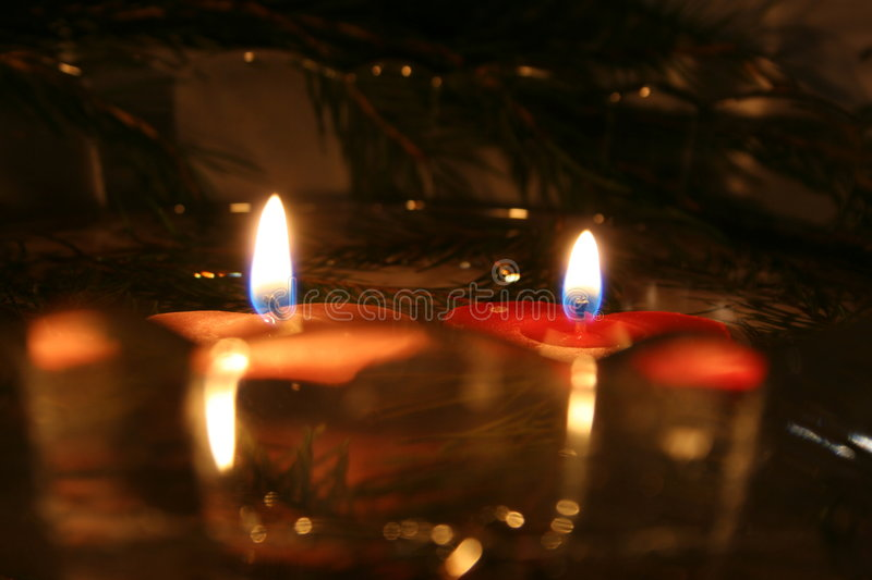 Two Candles 05 royalty free stock photos