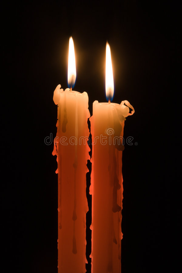 Free Two Candles Royalty Free Stock Photos - 6772008