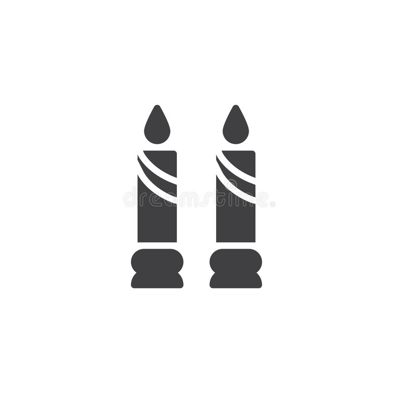 Free Two Candles Vector Icon Stock Image - 136341301