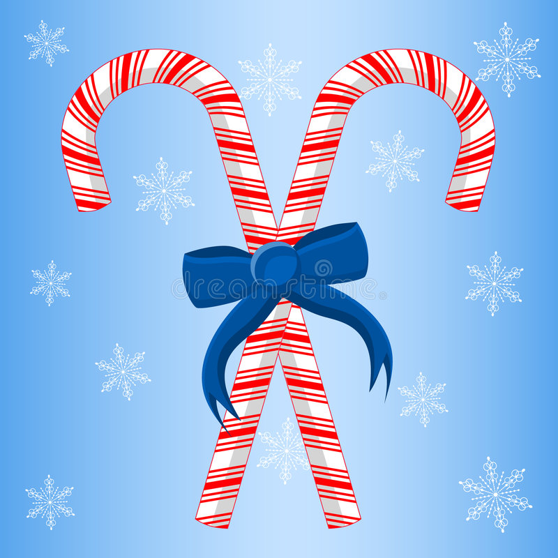 Download Two Candy Canes With Ribbon Royalty Free Stock Images - Image: 6222999