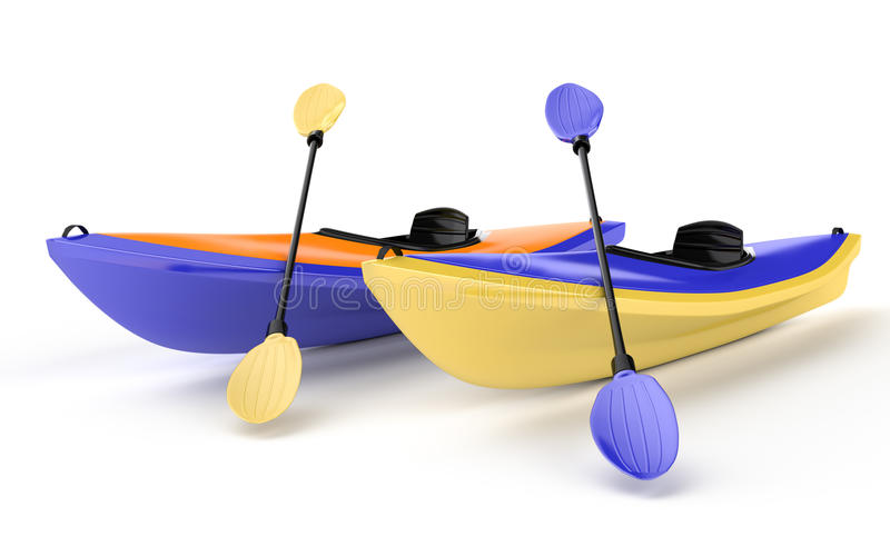 Download Two canoes stock illustration. Illustration of sport - 25633836