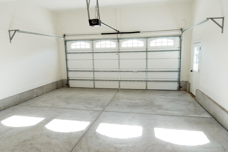 Two car garage interior stock photo Image of floor concrete 45318872