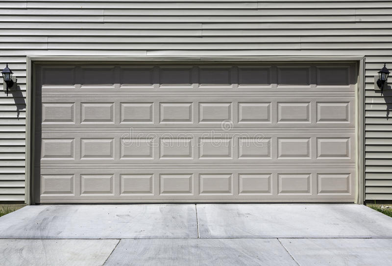 Two car garage royalty free stock images