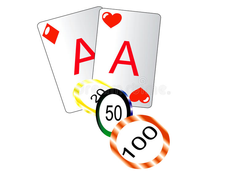 Two card. On a white Bg vector illustration