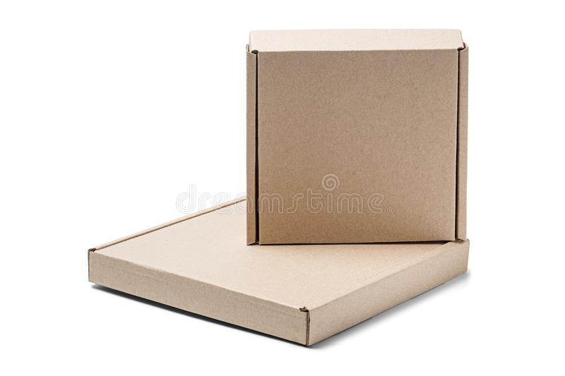 Two cardboard box on isolated white background parcel with empty download two cardboard box on isolated white background parcel with empty space for your text reheart Image collections