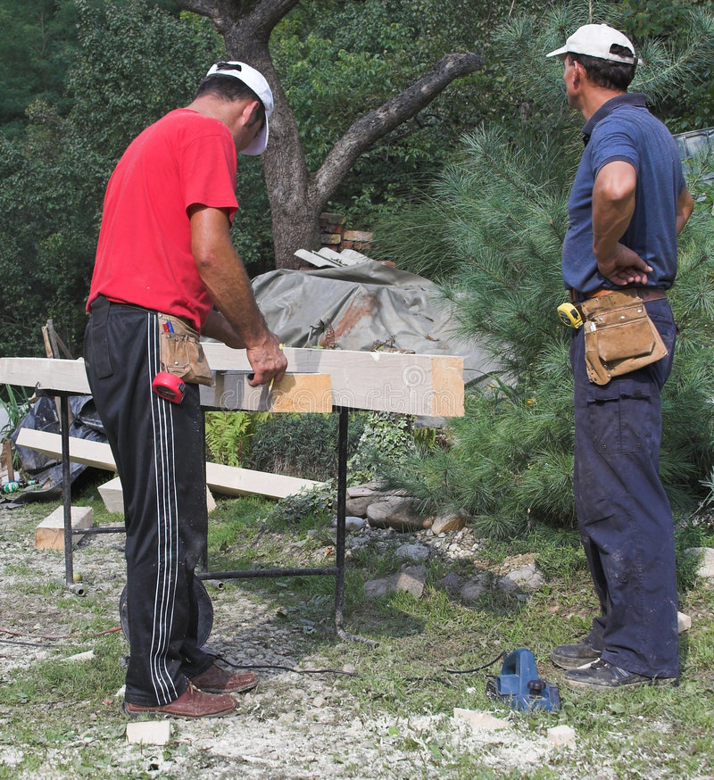Download Two Carpenter Stock Photography - Image: 1410632
