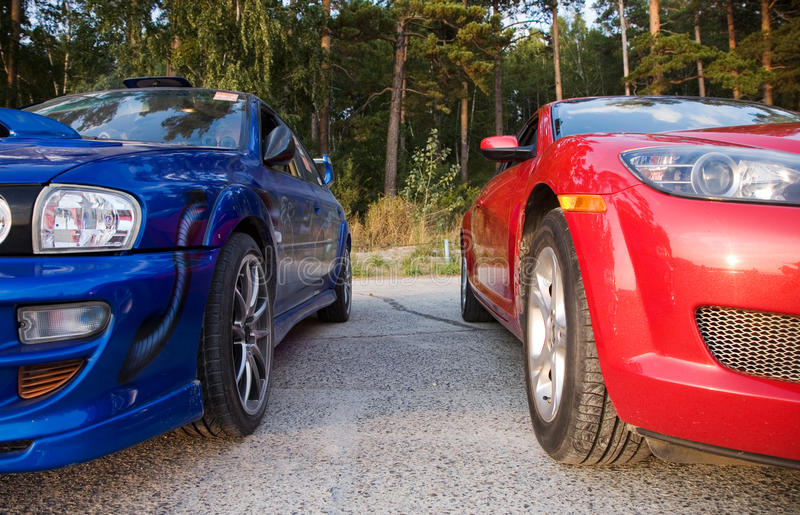 Two cars royalty free stock images