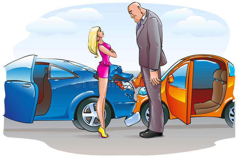 Two Cars Accident Crash Road Stock Illustrations – 152 Two Cars