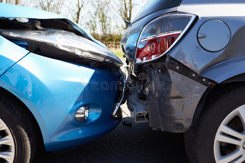 Download Two Cars Involved In Traffic Accident Stock Image - Image: 31863703
