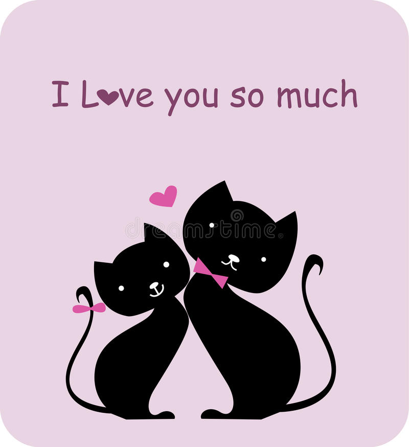 Download Two cat in love stock vector. Image of heart, eyes, animal - 11577531