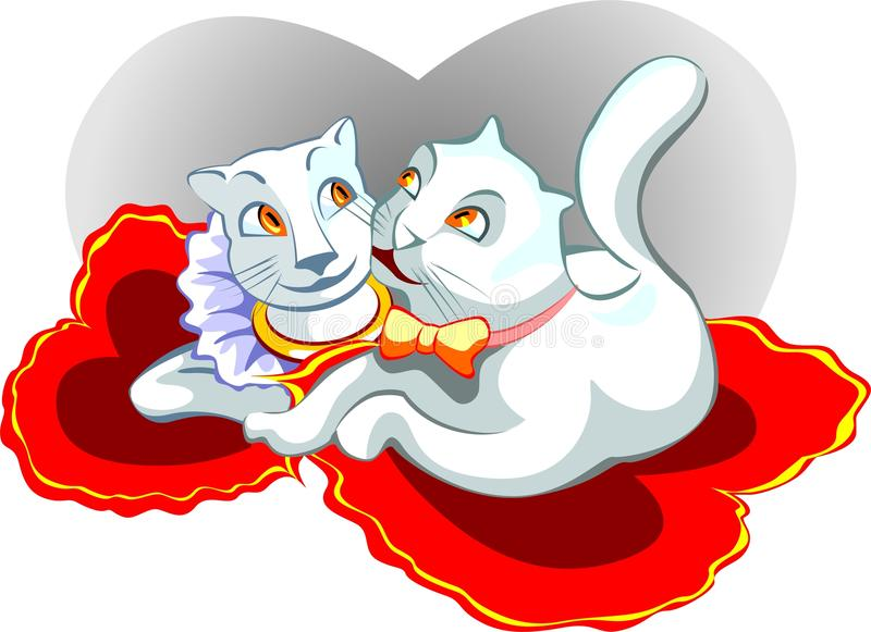 Download Two cats stock vector. Image of romantic, romance, valentine - 21780925