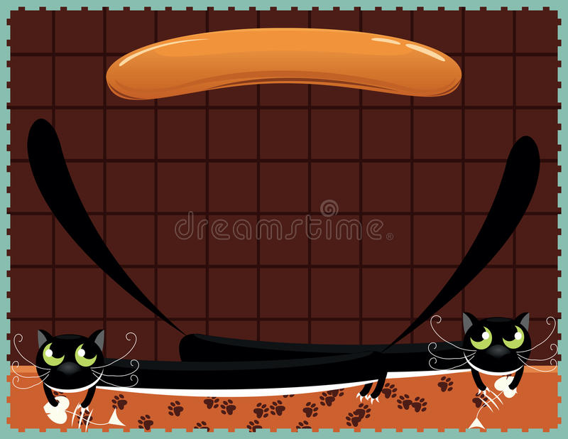 Download Two cats stock vector. Image of sausage, hungry, humor - 27391012