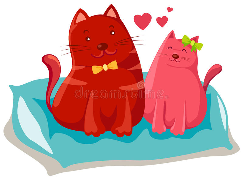 Download Two Cats In Love Royalty Free Stock Images - Image: 15223979