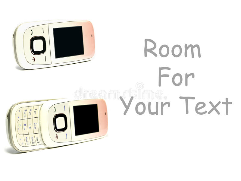 Download Two Cell Phones On White With Space For Text Stock Image - Image: 11756717